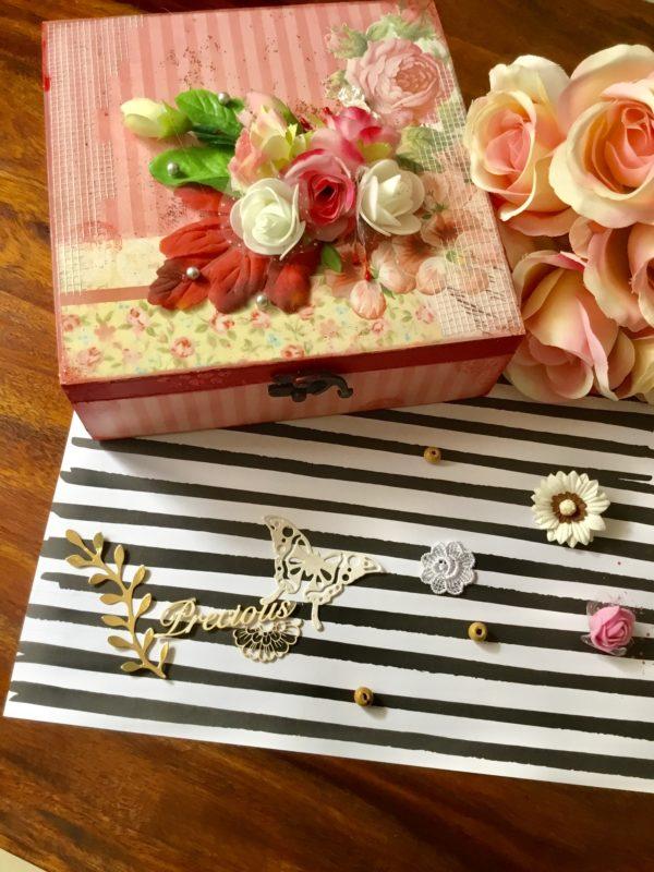 Handmade gift box for anniversary
