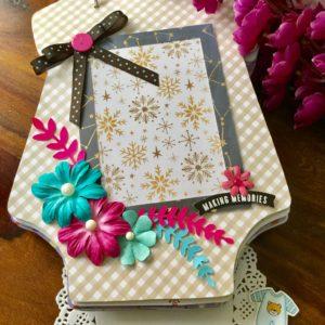 Handmade scrapbook baby book