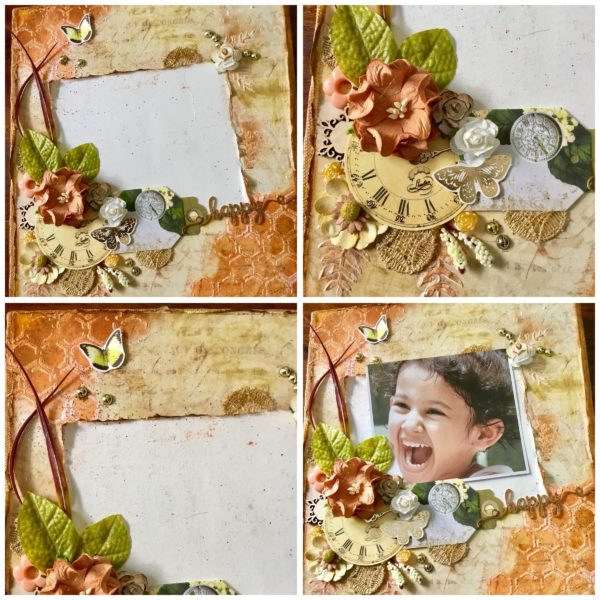 Mixed media photo canvas art