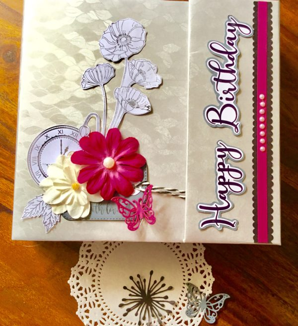 Personalised birthday scrapbook