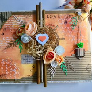 Personalised scrapbook for anniversary