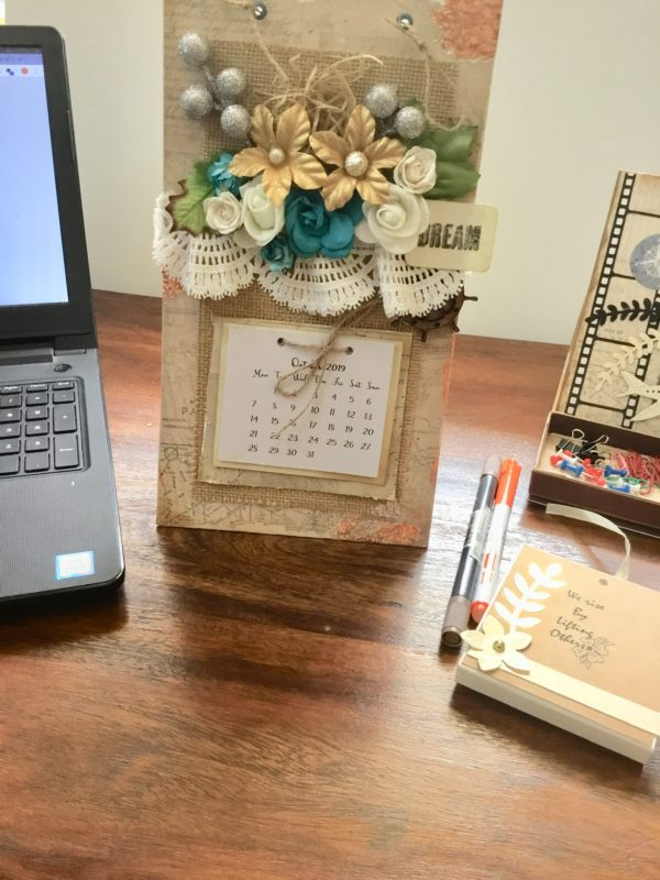 Customised office desk calendar