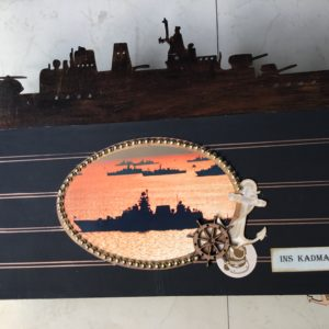 Customised scrapbook for navy