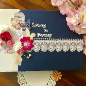 Personalised anniversary scrapbook