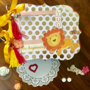 Handmade scrapbook for baby