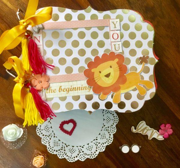 Handmade scrapbook for baby